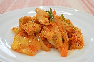 圧力調理バッグで!サラダチキンとキムチ野菜